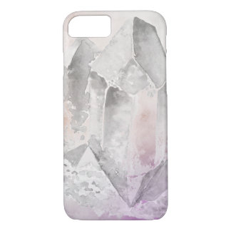 *~* Faux Amethyst Crystal Healing Energy Chakra iPhone 8/7 Case