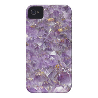Faux amethyst geode crystal gemstone photo hipster Case-Mate iPhone 4 cases