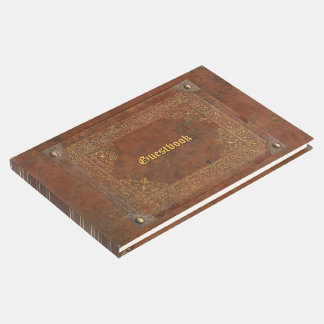 Faux Antique Leather Guest Book
