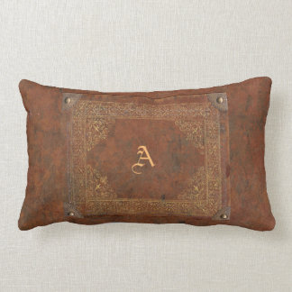 Faux Antique Leather with (or without) Initial(s) Lumbar Pillow