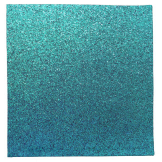 Faux Aqua Teal Turquoise Blue Glitter Background Napkin