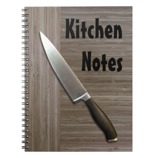 """""""faux bamboo"""" KITCHEN NOTEBOOK"""