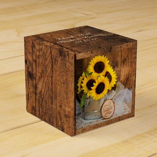 Faux Barn Wood, Sunflower and Watering Can Wedding