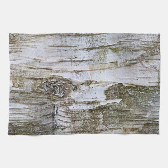 Faux Birch Tree Bark Texture Look Pattern Tea