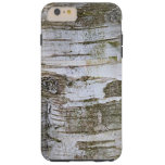 Faux Birch Tree Bark Texture Look Pattern Tough iPhone 6 Plus Case