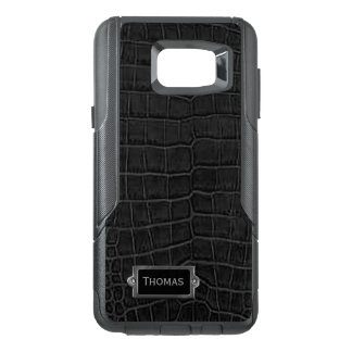 Faux Black Alligator Otterbox Samsung Note 5 Case