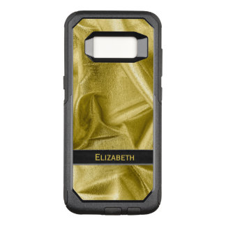 : Faux Black and Gold Lame' Metallic OtterBox Commuter Samsung Galaxy S8 Case