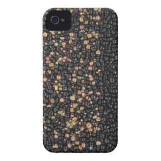 Faux black Gold Seed Beaded Blackberry Case