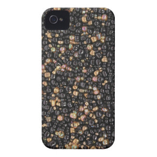 Faux black & Gold Seed Beaded IPhone 4 Case