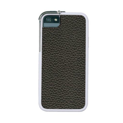 Faux Black Leather Texture iPhone 5/5S Case
