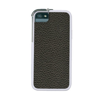 Faux Black Leather Texture Case For iPhone 5