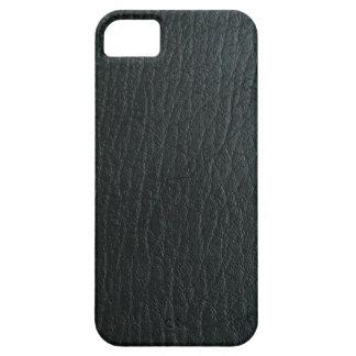 Faux Black Leather Texture iPhone 5 Case