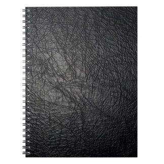 Faux Black Leather Texture Notebooks