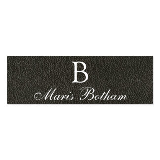 Faux Black Leather Texture Pack Of Skinny Business Cards
