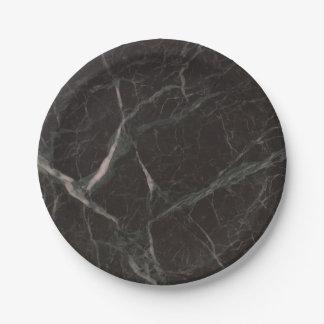 Faux Black Marble Appearance 4Claude Paper Plate