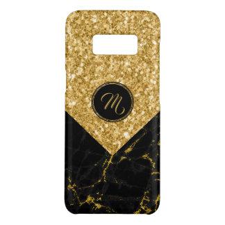 Faux Black Marble & Gold Glitter Modern Design Case-Mate Samsung Galaxy S8 Case