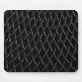 Faux Black Mesh Texture Mouse Pad