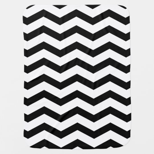 Faux Black White Foil Chevron Zig Zag Pattern
