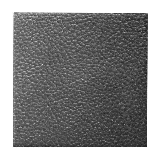 Faux Black Worn Leather Tile