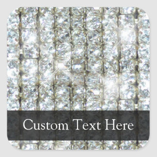 Faux Bling Square Sticker