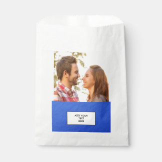 Faux Blue Foil Favour Bags