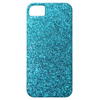 Faux Blue Glitter Case For The iPhone 5