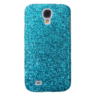 Faux Blue Glitter Galaxy S4 Case