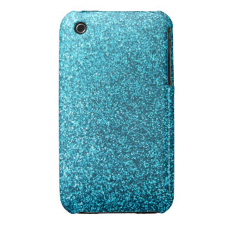 Faux Blue Glitter iPhone 3 Cover
