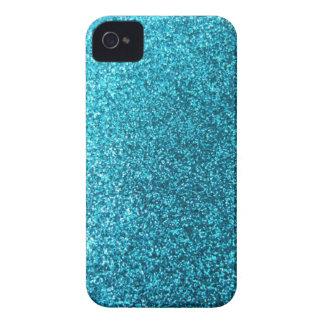 Faux Blue Glitter iPhone 4 Case-Mate Case