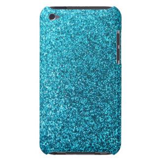 Faux Blue Glitter iPod Touch Case-Mate Case