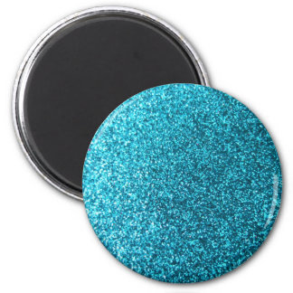 Faux Blue Glitter Magnets