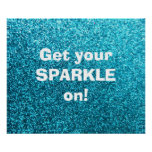 Faux Blue Glitter Poster
