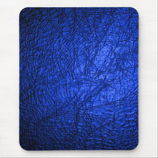 Faux Blue Leather Texture Mouse Mat