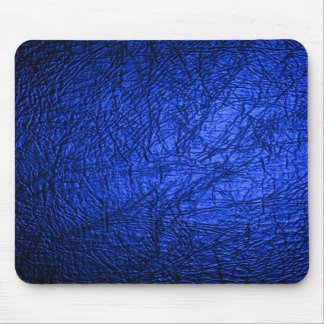 Faux Blue Leather Texture Mouse Pad