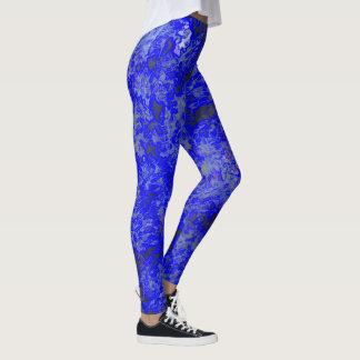 Faux Blue Marbling Leggings