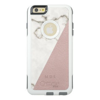 Faux Blush Leather Marble OtterBox Monogram OtterBox iPhone 6/6s Plus Case