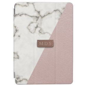 Faux Blush Pink Leather Marble iPad Air 2 Cover