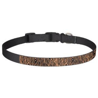 Faux Bois Pet Collar