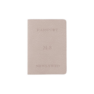 Faux Bridal Blush Leather Look Passport Holder