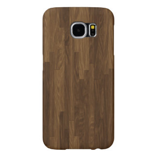 Faux Brown Hardwood Panels Samsung Galaxy S6 Cases
