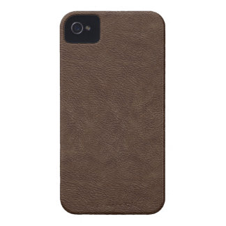 Faux Brown Leather iPhone 4 Cover