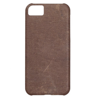 Faux Brown Leather iPhone 5C Case