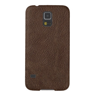 Faux Brown Leather Samsung Galaxy S5 Case
