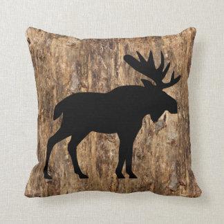Faux Brown Tree Bark Texture Look Pattern Throw Cushion