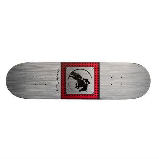 Faux Brushed Aluminium Equestrian. Skateboards