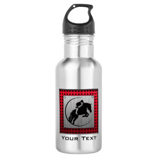Faux Brushed Aluminum Equestrian. 532 Ml Water Bottle