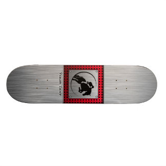 Faux Brushed Aluminum Equestrian. Skateboards