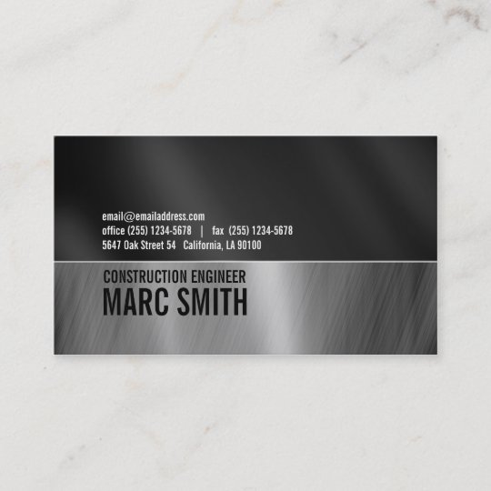 Brushed metal business cards business card printing zazzle uk faux brushed metal business card two sided reheart Images