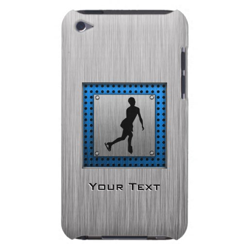 Faux Brushed Metal; Figure Skating iPod Touch Covers