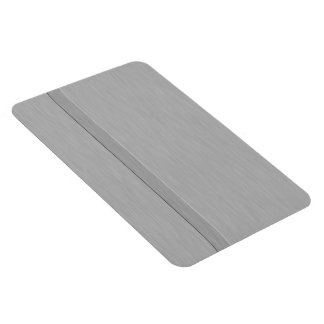 Faux Brushed Metal with Groove Rectangular Photo Magnet